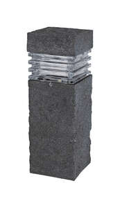 Paradise  Black  Low Voltage  20 watts LED  1  Bollard Light