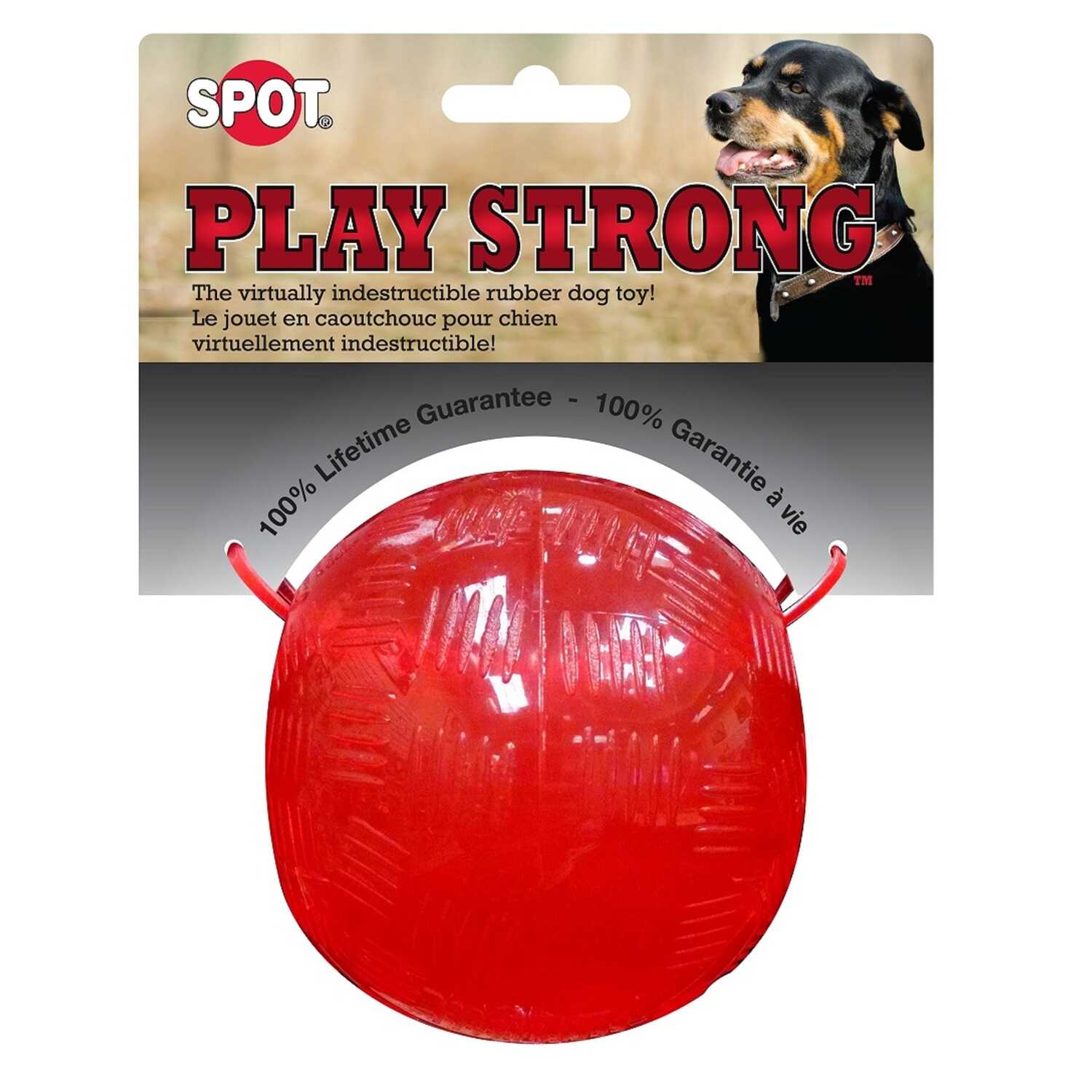 SPOT Play Strong  Ball/Bone  Dog Toy  Rubber