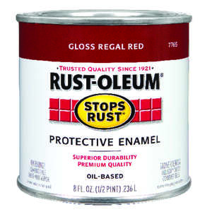 Rust-Oleum  Indoor and Outdoor  Gloss  Regal Red  Protective Enamel  0.5 pt.