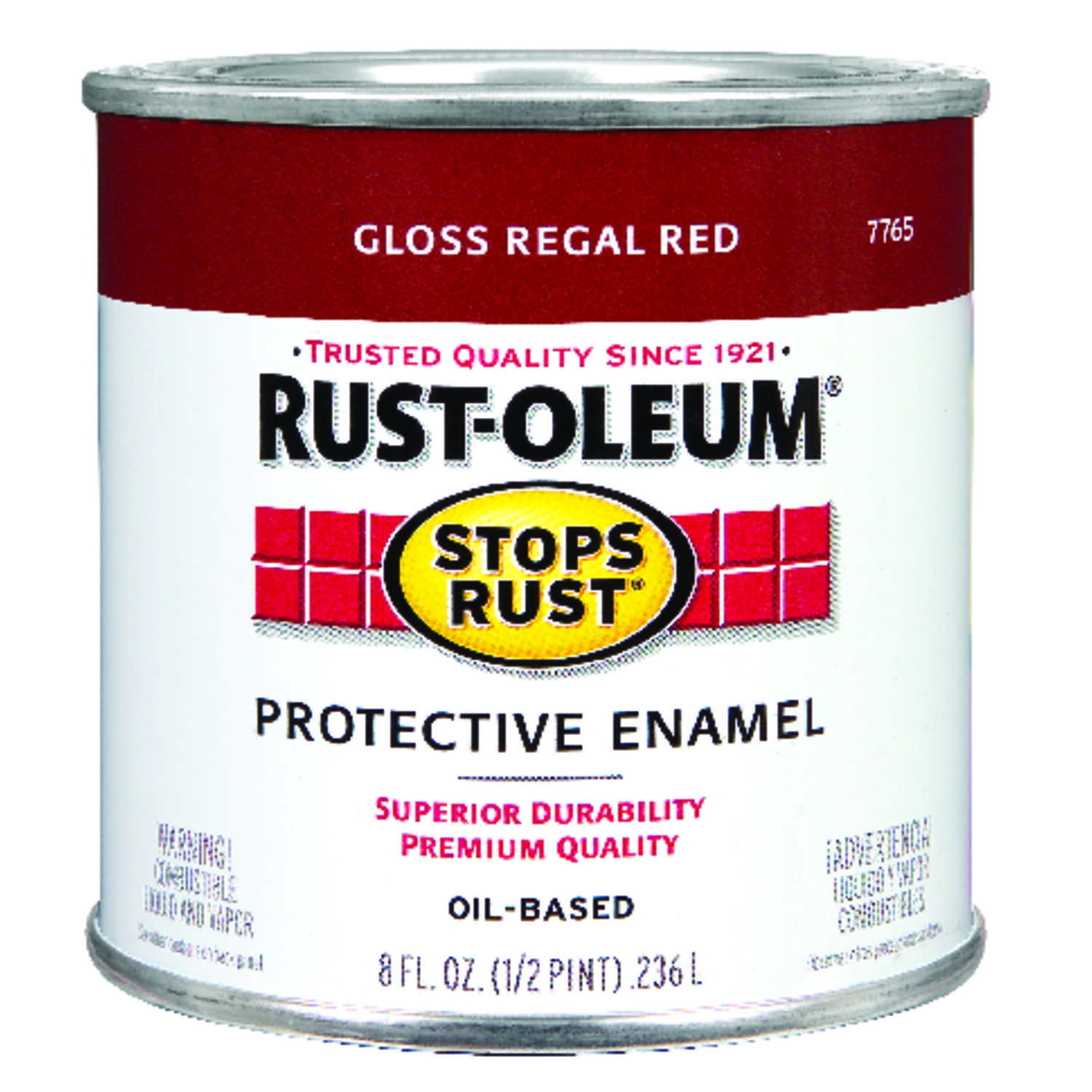 Rust-Oleum  Stops Rust  Gloss  Regal Red  Oil-Based  Alkyd  Protective Enamel  Indoor and Outdoor  4