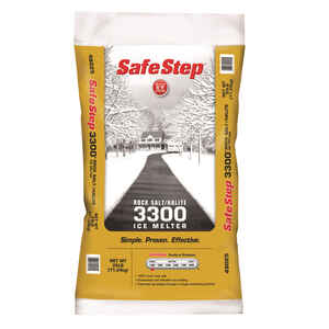 Safe Step  3300  Sodium Chloride  Ice Melt  25 lb. Crystal