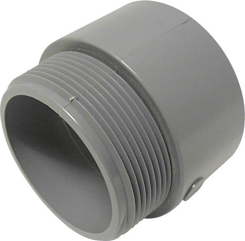Cantex  2-1/2 in. Dia. PVC  Male Adapter  1 pk