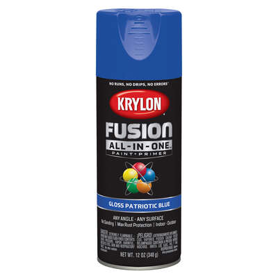 Krylon  Fusion All-In-One  Gloss  Patriotic Blue  Paint + Primer Spray Paint  12 oz.