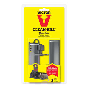 Victor  Clean-Kill  Small  Kill and Contain  Animal Trap  For Mice 2 pk