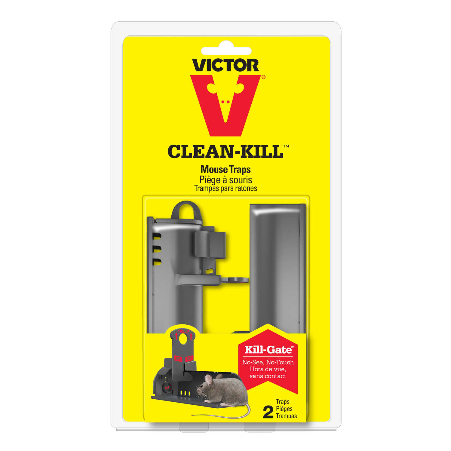 Victor  Clean-Kill  Covered  Animal Trap  For Mice 2 pk