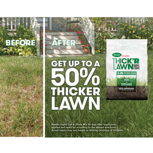 Scotts  Turf Builder Thick'R Lawn  9-1-1  Fertilizer & Seed  For All Grass Types 12 lb. 1200 sq. ft.