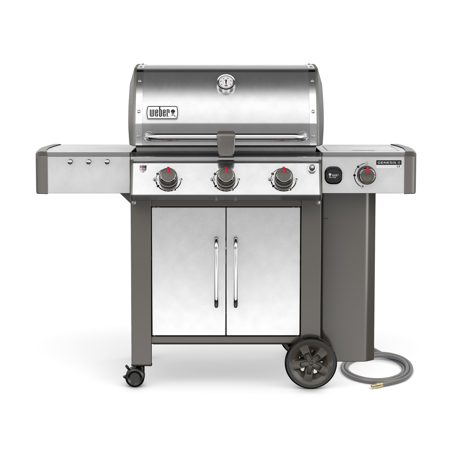 Weber  Genesis II LX S-340  3 burners Natural Gas  Stainless Steel  Grill  43500 BTU