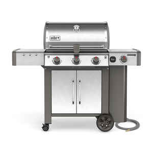 Weber  Genesis II LX S-340  Natural Gas  Freestanding  Grill  Stainless Steel  3