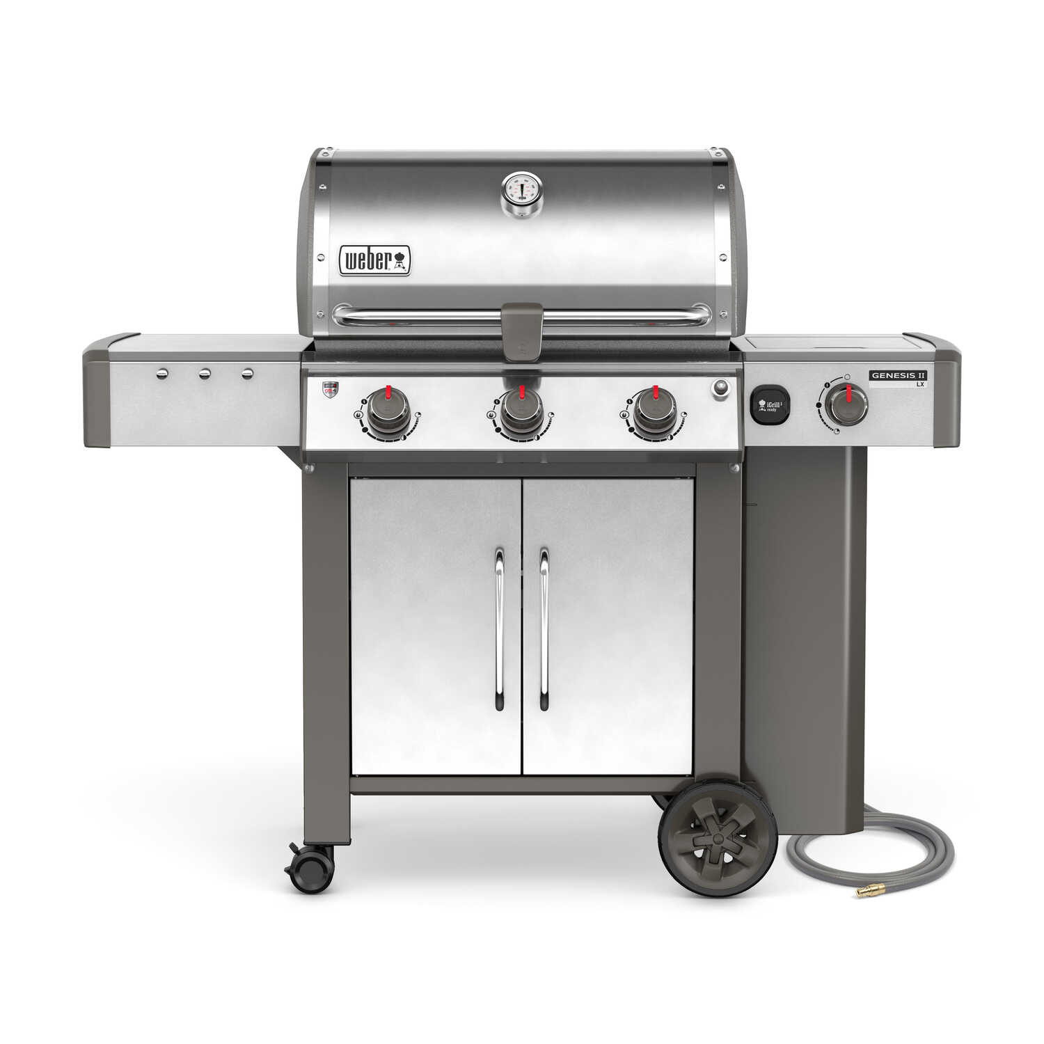 Weber  Genesis II LX S-340  3 burners Natural Gas  Grill  Stainless Steel  43500 BTU