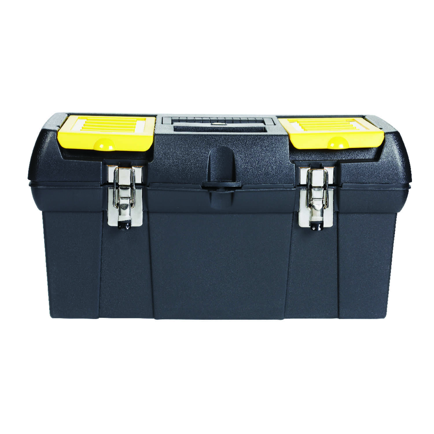 Stanley  9 in. Plastic  Toolbox  9 in. W x 4 in. H Black