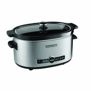 KitchenAid  Metallic  Stainless Steel  6 qt. Slow Cooker  Programmable