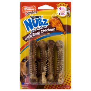 Nylabone  Nubz  Chicken  Dog  Chews  4 pk