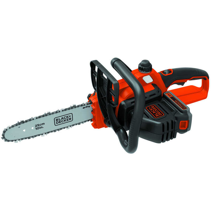 Black and Decker  10 in. L Battery Powered  Chainsaw