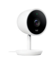 Nest  Cam IQ  Plug-in  Indoor  White  Wi-Fi Security Camera