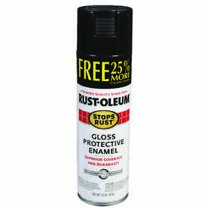 Rust-Oleum  Stops Rust  Gloss  Black  Spray Paint  15 oz.