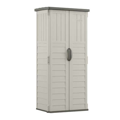 Suncast 2 ft. W x 2 ft. D Plastic Vertical Storage Shed With Floor Kit