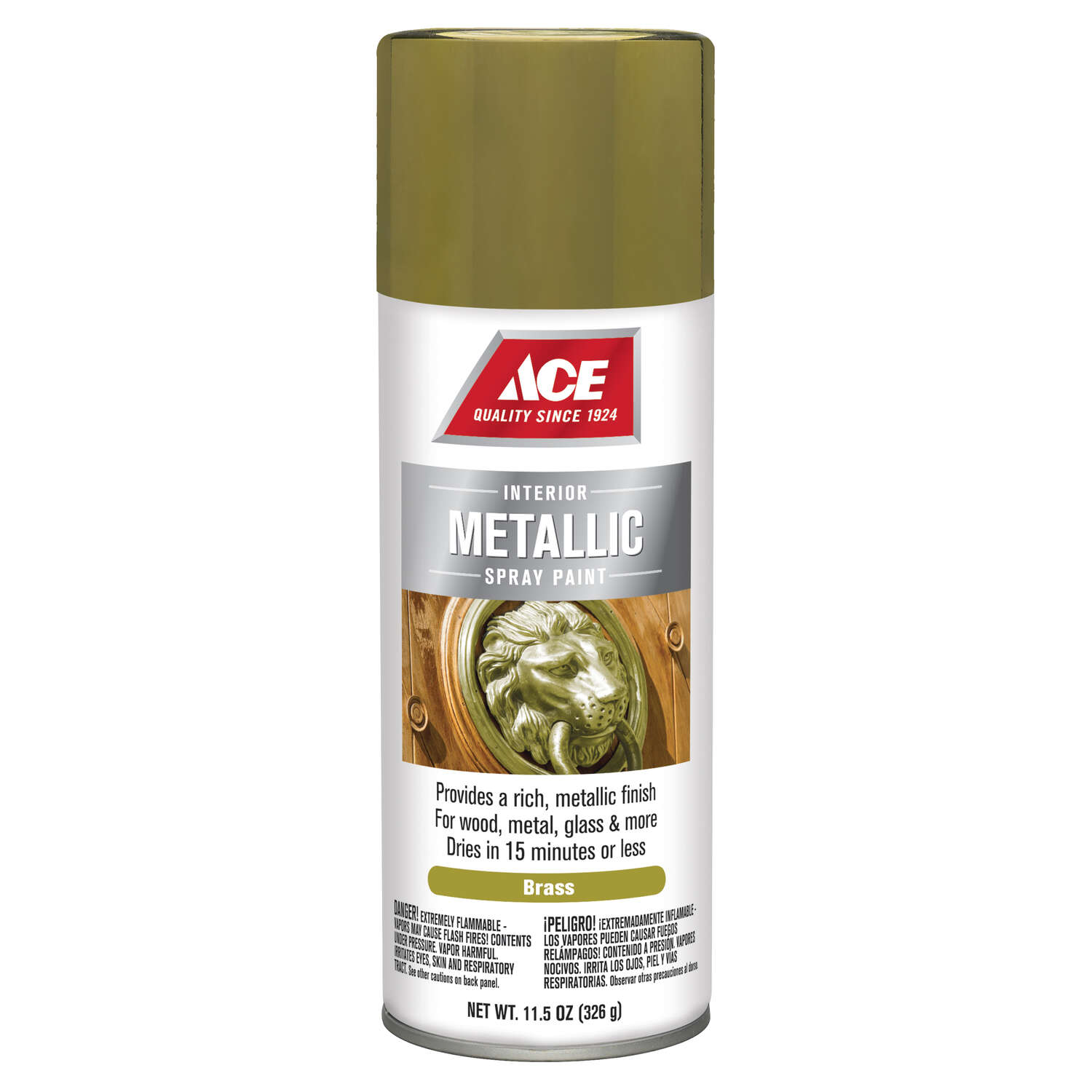 Ace  Brilliant  Brass  11.5 oz. Spray Paint
