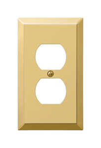 Amerelle  1 gang Duplex Outlet  Stamped Steel  1 pk Wall Plate