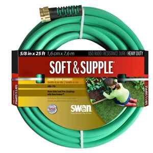 Swan  Soft & Supple  5/8 in. Dia. x 25 ft. L Green  Garden Hose