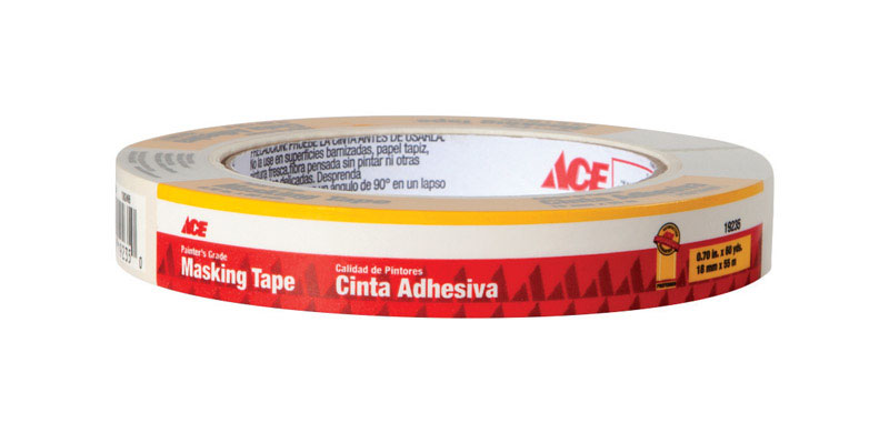 Ace  0.7 in. W x 60 yd. L Beige  Regular Strength  Painter's Tape  1 pk