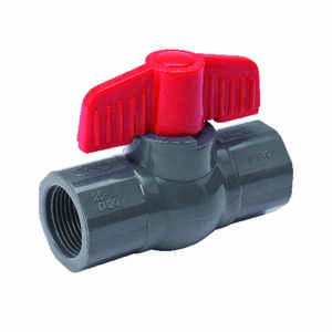 Mueller  1-1/2 in. PVC  Threaded  Ball Valve