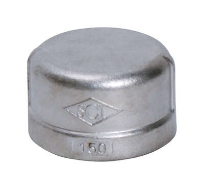 Smith-Cooper 1 in. FPT x 1 in. Dia. FPT Stainless Steel Cap
