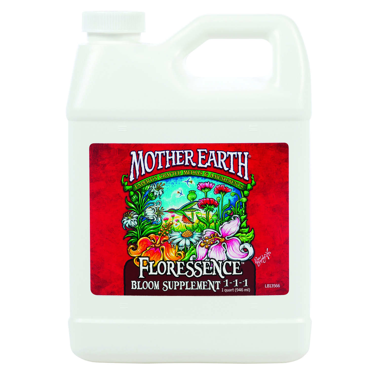 Mother Earth  Floressence Bloom Supplement 1-1-1  Hydroponic Plant Supplement  1 qt.