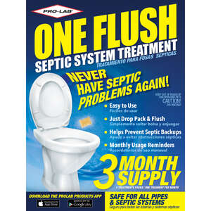 Pro-Lab  One Flush  No Scent Septic & Plumbing Treatment  3 pk Stick