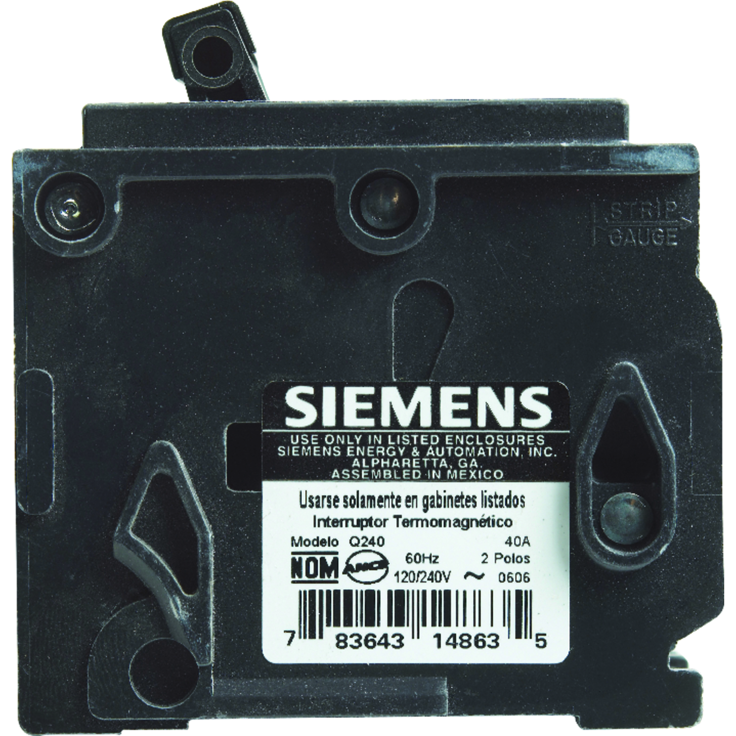 Siemens Homeline 40 Amps Double Pole 2 Circuit Breaker Ace Hardware House Fuse Box 10000