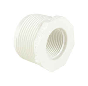 Dura  Schedule 40  1/2 in. MPT   x 3/8 in. Dia. FPT  PVC  Reducing Bushing