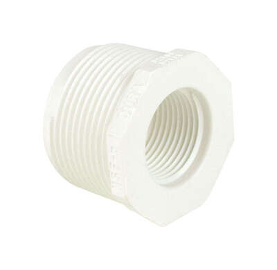 Dura  Schedule 40  1/2 in. MIPT   x 3/8 in. Dia. FIPT  PVC  Reducing Bushing