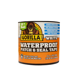 Gorilla  4 in. W x 10 ft. L White  Waterproof Repair Tape