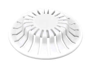 Danco  1-1/2 in. Dia. White  Rubber  Hair Snare Drain Cover