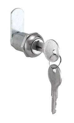 Prime-Line Chrome Gray Steel Cabinet/Drawer Lock