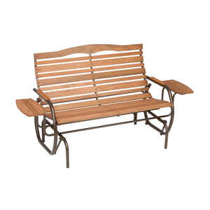Jack Post  Country Garden  Steel/Wood  2 person  Double Glider with Trays  37 in. 30 in. 71 in. 500