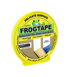 FrogTape  0.94 in. W x 60 yd. L Yellow  Low Strength  Painter's Tape  1 pk