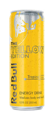 Red Bull  The Yellow Edition  Tropical  Energy Drink  12 oz.