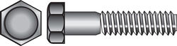 Hillman  1/4-20 in. Dia. x 1-1/4 in. L Stainless Steel  Hex Head Cap Screw  100 pk
