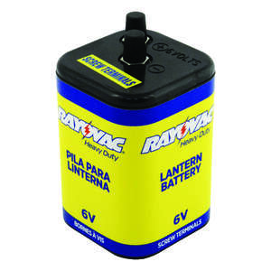 Rayovac  Zinc Chloride  6-Volt  Heavy Duty Battery  1 pk