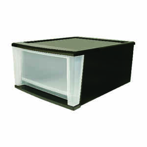 Iris  8.4 in. H x 12.05 in. W x 14.25 in. L Clear/Black  Plastic  Drawer Organizer