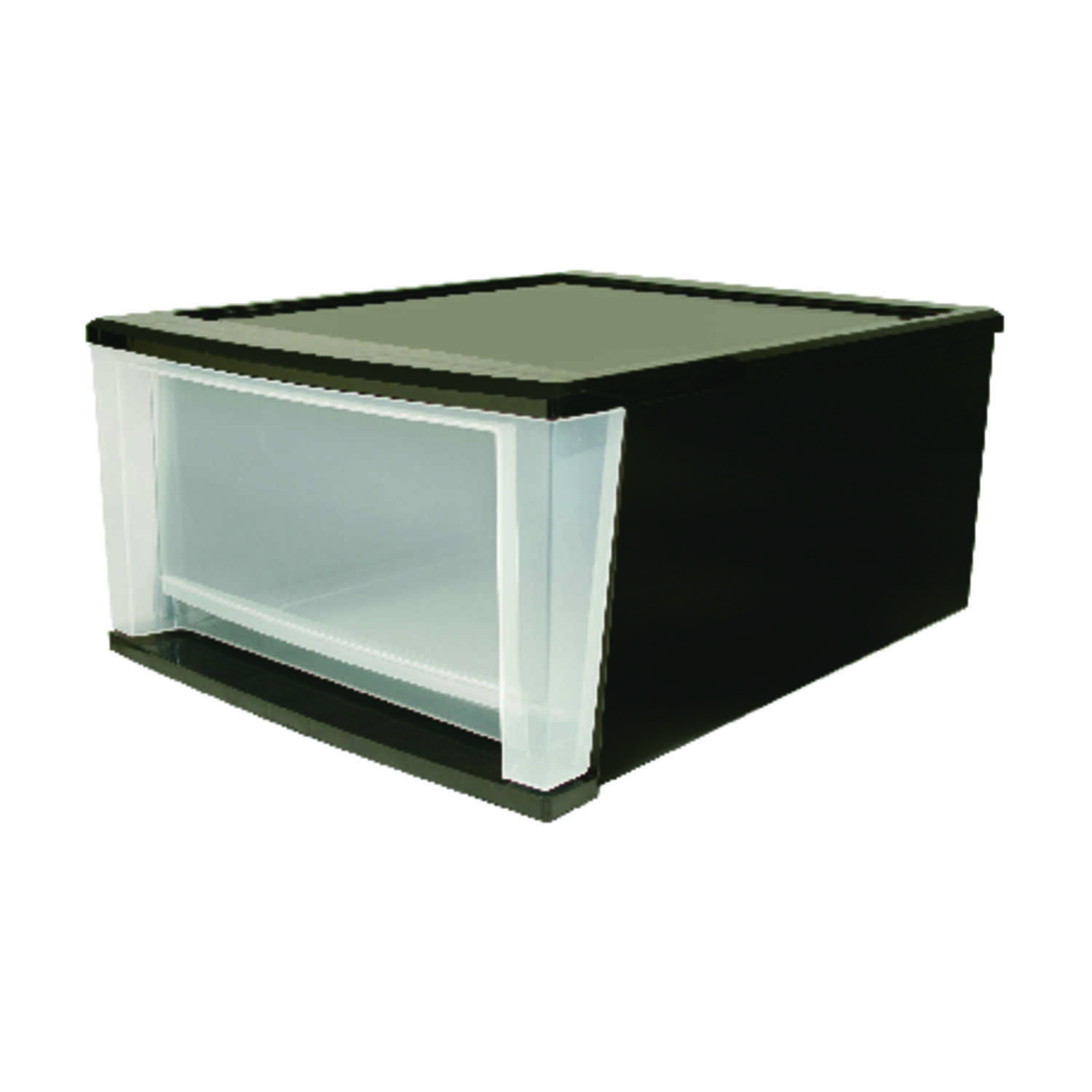 Iris  12.05 in. W x 14.25 in. L x 8.4 in. H Plastic  Drawer Organizer  Clear/Black