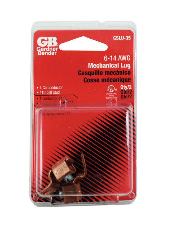 Gardner Bender 14-6 Ga. Copper Wire Aluminum to Copper Lug 2 pk