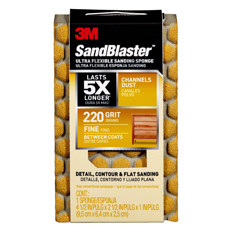 3m sandblaster 4 2 in  l x 2 2 in  w x 1 in  220 grit