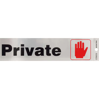 Hillman  English  Silver  Private  Decal  2 in. H x 8 in. W