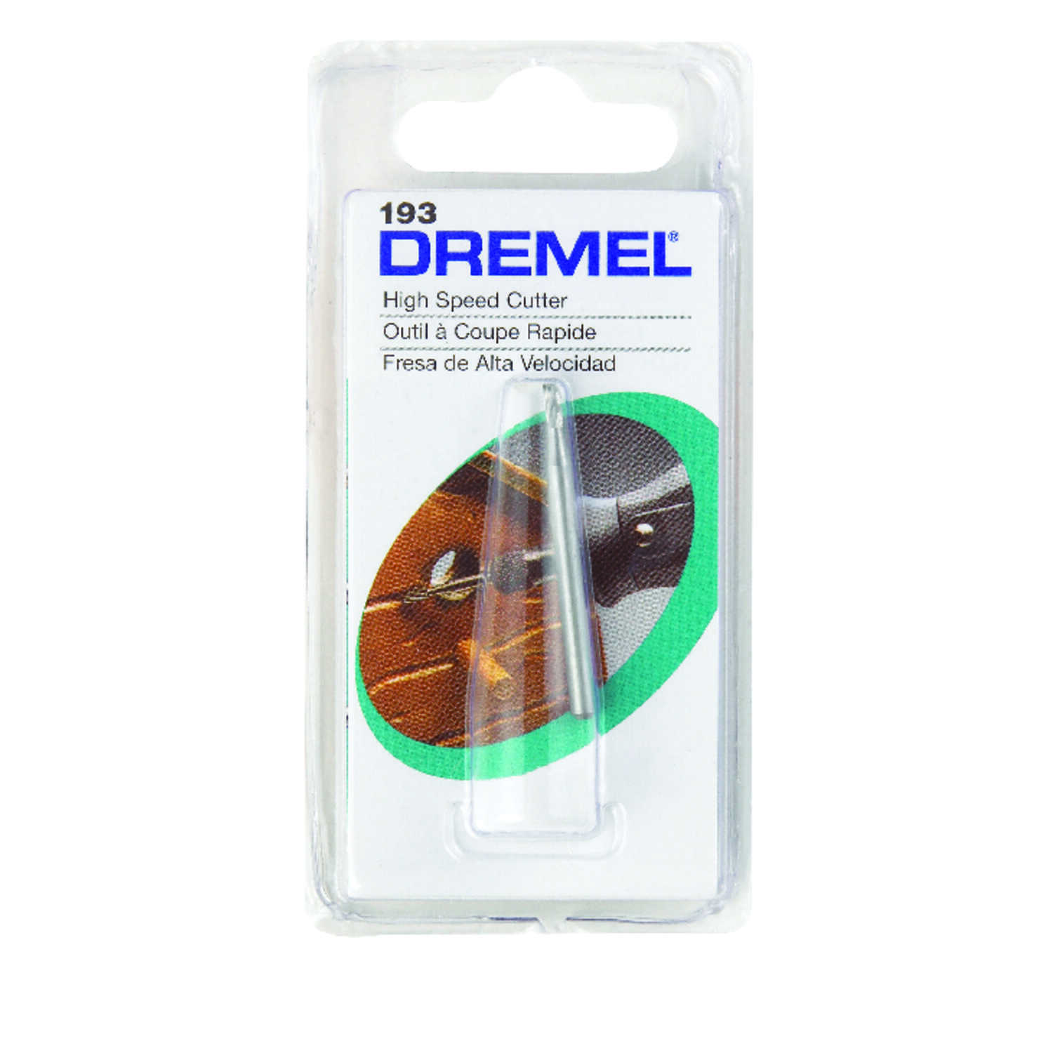 Dremel  5/64 in   x 1.5 in. L x 1/8 in. Dia. Steel  High Speed Cutter  1 pk