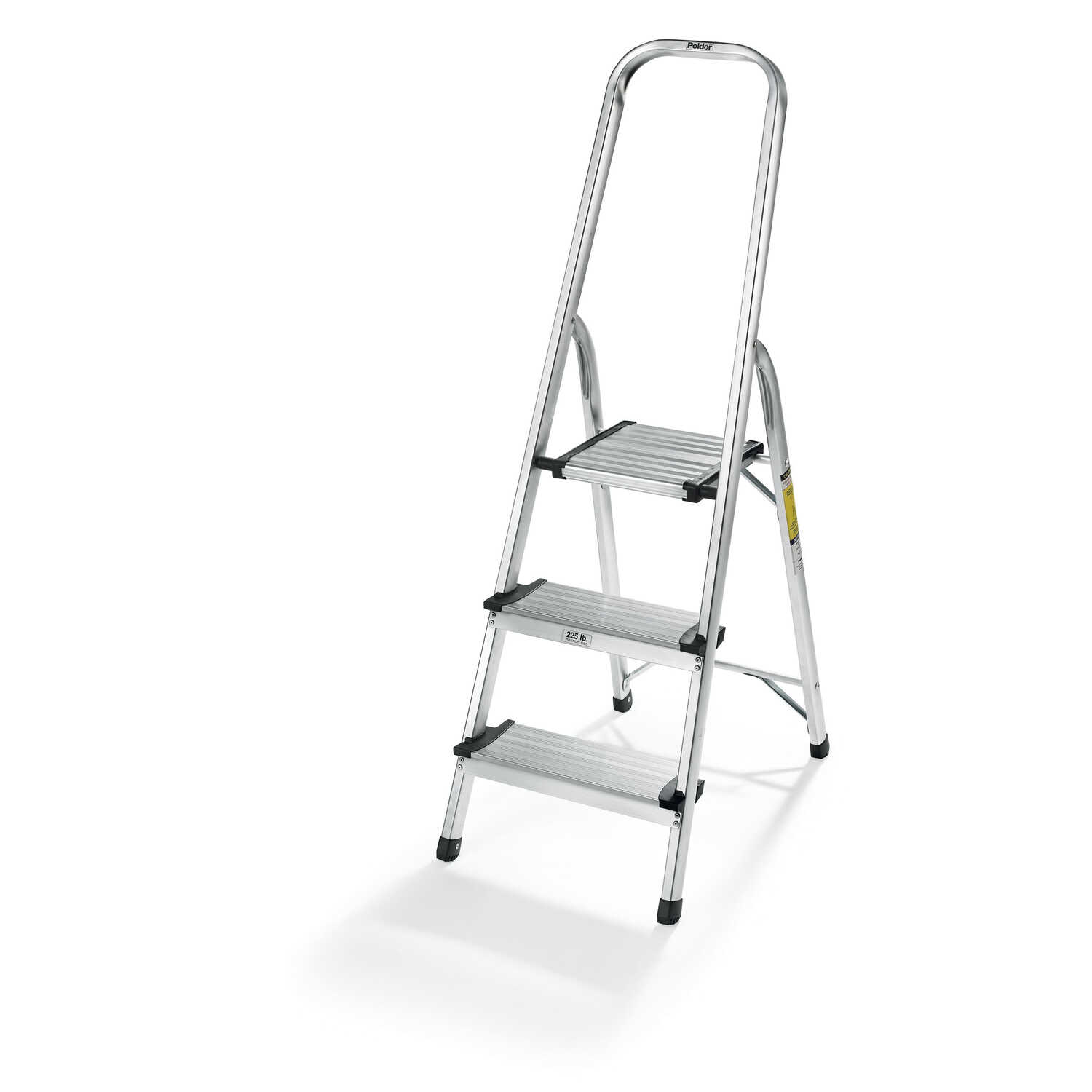 Polder  3-Step  52-1/2 in. H 225 lb. Aluminum  3  Folding Step Stool