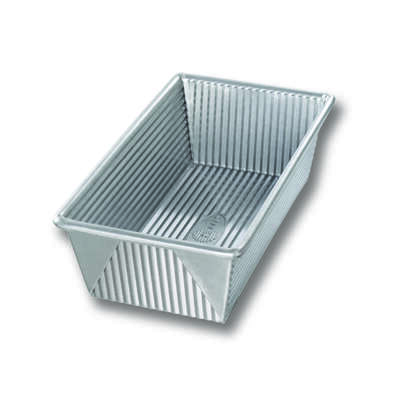 USA Pan 4.5 in. W x 8.5 in. L Loaf Pan Silver