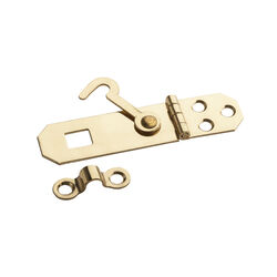 National Hardware Solid Brass 2-3/4 in. L Hasp w/Hook 1