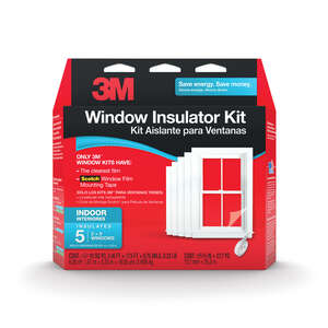 3M  Clear  Indoor  Window Film Insulator Kit  62 in. W x 210 in. L