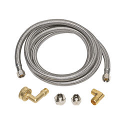 Ace  3/8 in. Compression   x 3/8 in. Dia. Compression  60 in. Braided Stainless Steel  Supply Line